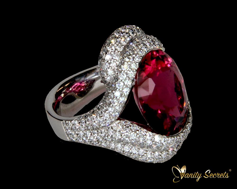 Ring Turmalin Diamond Brilliant Vanity Secrets