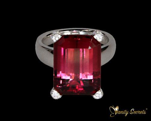 Ring Tourrmaline Diamond Brilliant Vanity Secrets