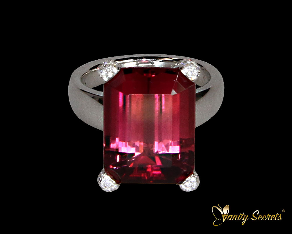 Ring Tourrmaline Diamond Brilliant Vanity Secrets