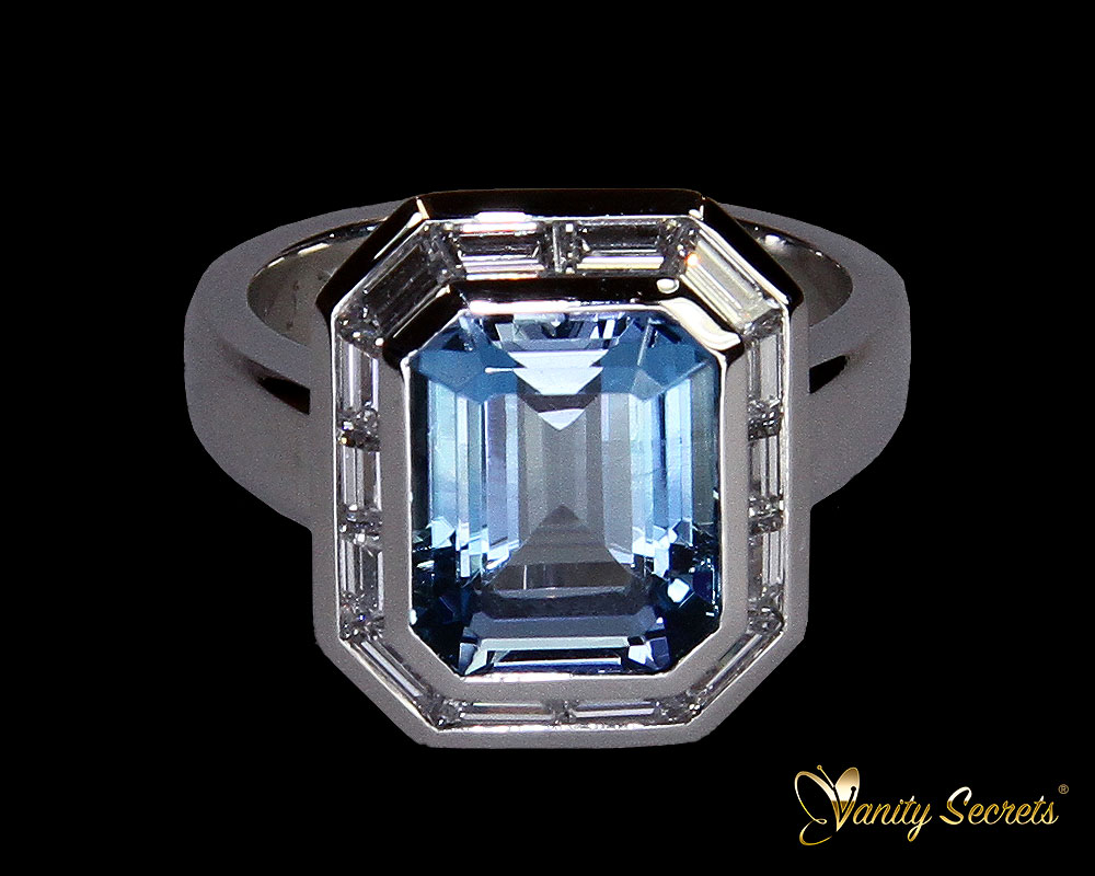 Vanity Secrets London Ring Brazilian Aquamarine