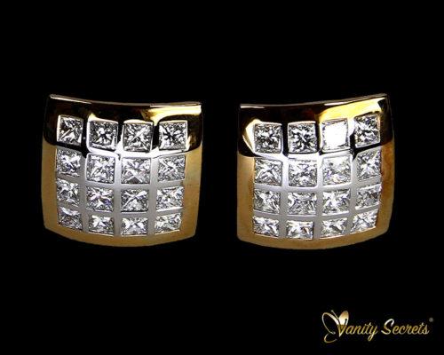 Vanity Secrets London Earrings Diamond Princess Carree