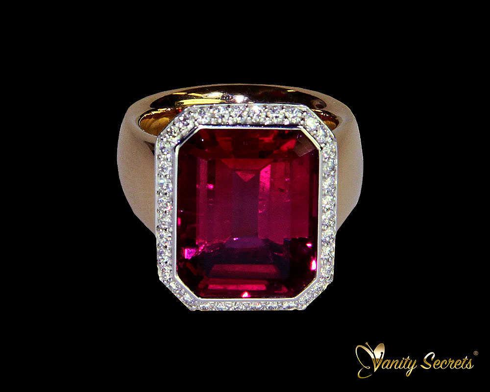 Vanity Secrets London Ring Rubellit