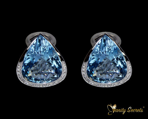 Vanity Secrets Londo earrings Brazillian Aquamarine