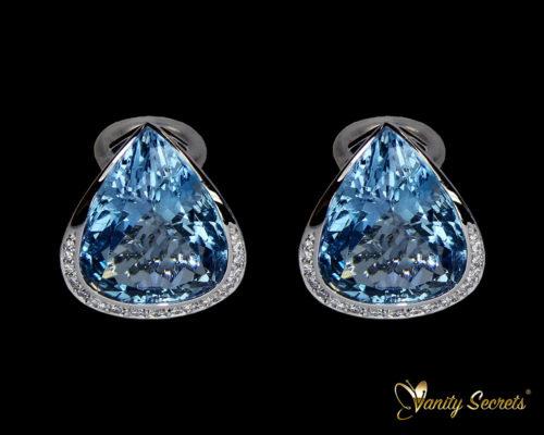 Vanity Secrets Londo earrings Brazillian Aquamarine