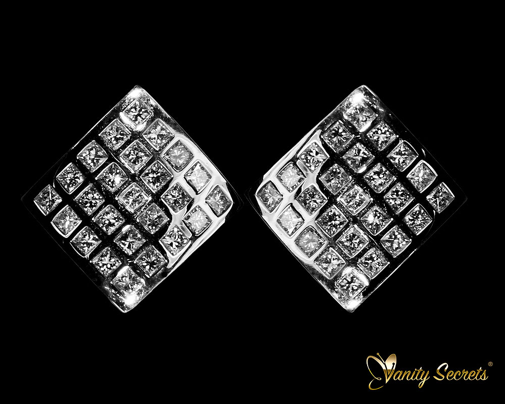 Vanity Secrets London Earrings Diamond Princess Carree