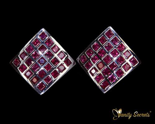 Vanity Secrets London Earrings Ruby Princess Carree