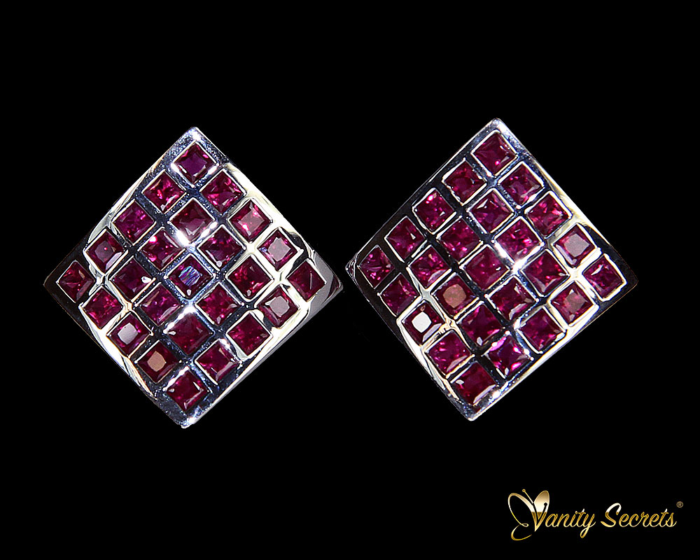 Vanity Secrets London Earrings Ruby Princess Carree