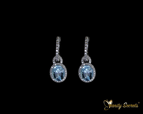 Vanity Secrets London Earrings Aquamarine Brilliant