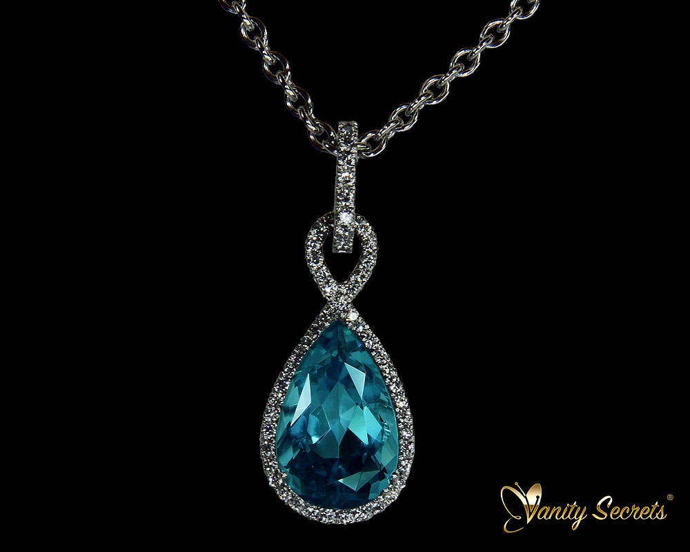 Vanity Secrets London Collier Aquamarine drop
