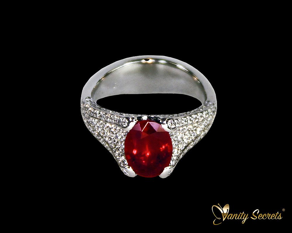 Vanity Secrets Ring Mozambique Ruby
