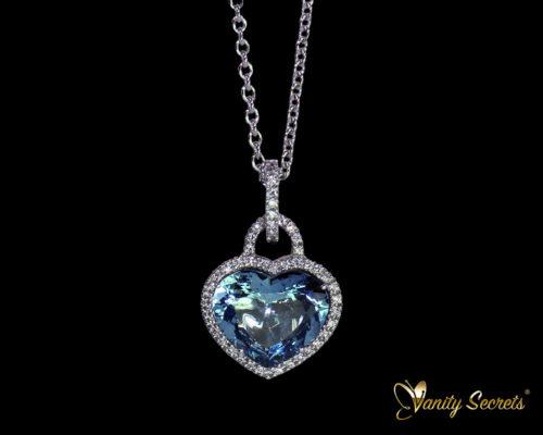 Vanity Secrets Collier Aquamarine heart