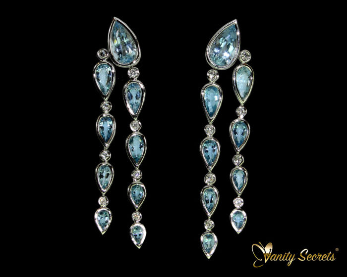 Vanity Secrets London Earrings Aquamarine drops
