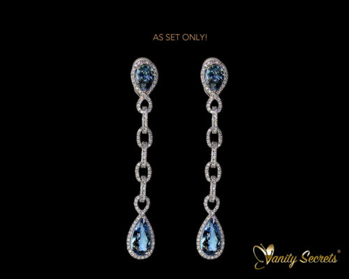 Vanity Secrets London - Earring Madagascar aquamarine drops