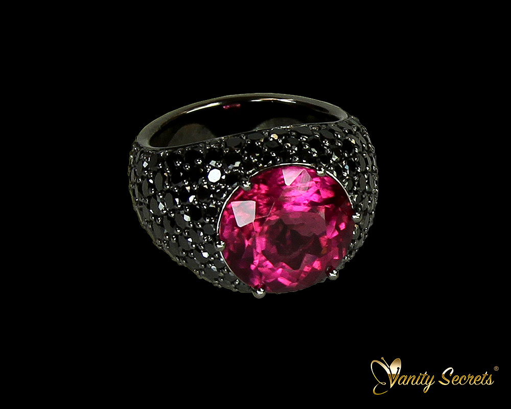 Vanity Secrets Londo Pink Tourmaline Black Diamonds