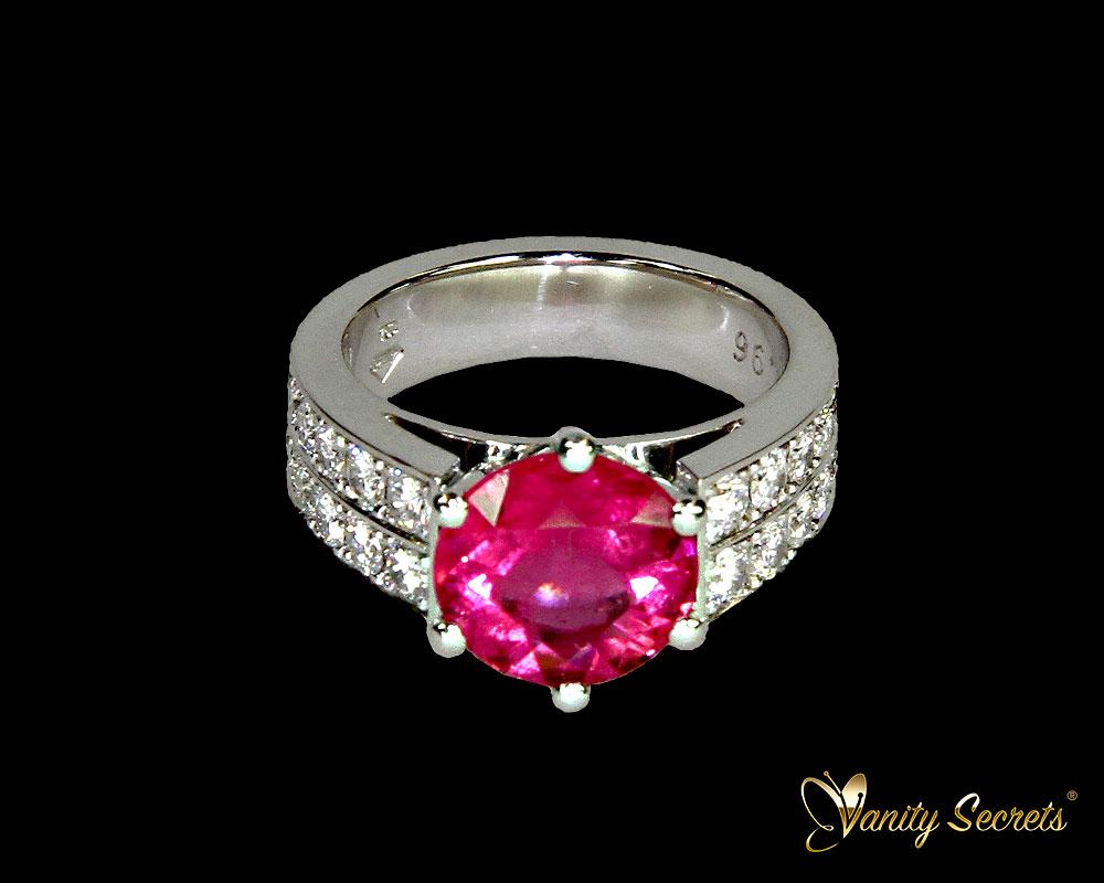 Vanity Secrets London Ring pink Tourmaline