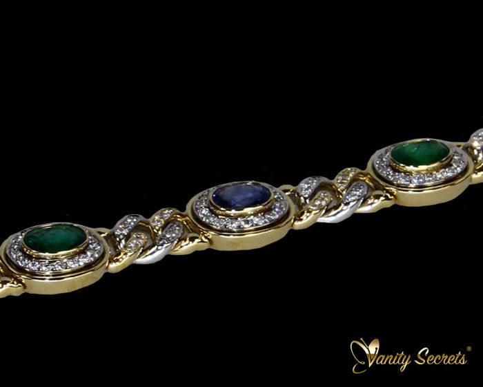 Vanity Secrets London Bracelet Cylon Sapphire Emerald Diamond