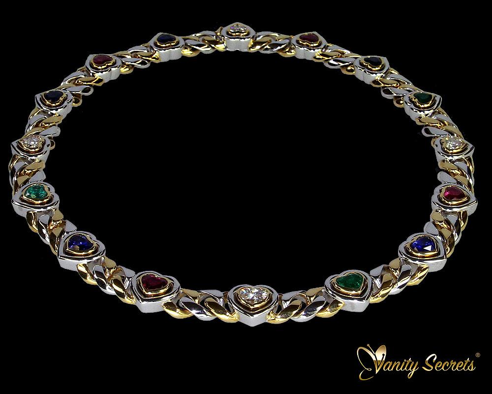 Vanity Secrets Collier Ruby Emerald Sapphire