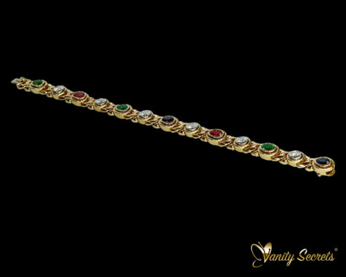 Vanity Secrets London Bracelet Ruby Sapphire Emerald