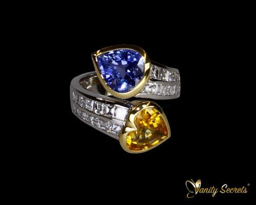 Vanity Secrets London Ceylon Sapphire Drop and Heart