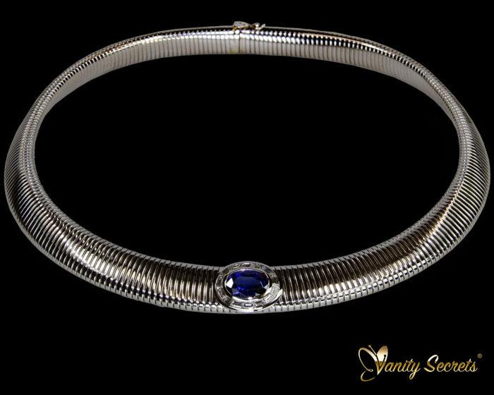 Vanity Secrets London Collier Cylon Sapphire