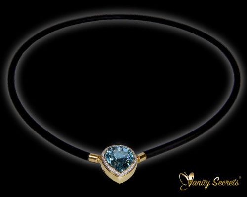 Vanity Secrets London Collier Aquamarine drop