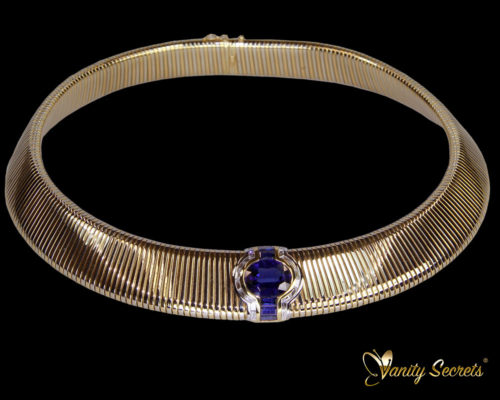 Vanity Secrets London Collier Chantaburi Siam Sapphire