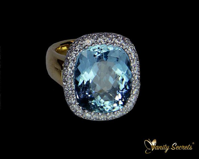 Vanity Secrets London Ring Aquamarine