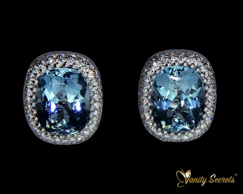 Vanity Secrets London Earrings Aquamarine