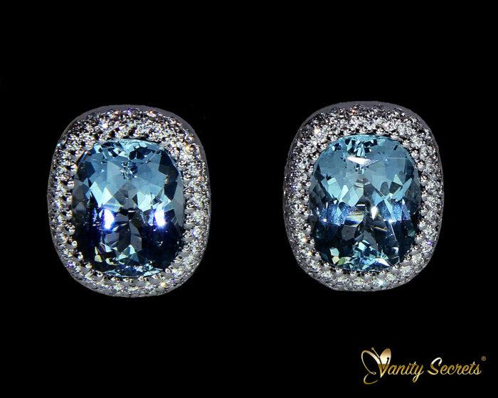 Vanity Secrets London Earrings Aquamarine